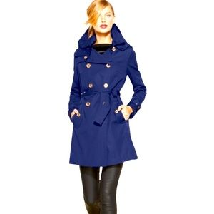 Michael Kors double breasted belted navy jacket S